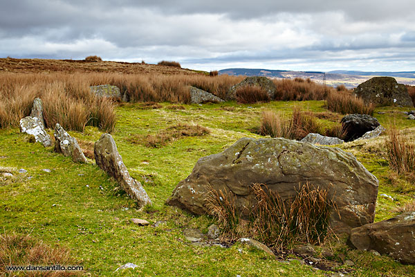 Carn Lechart in the Brecon Beacons foothills