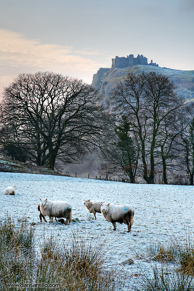 Carreg Cennen Castle in the Brecon Beacons