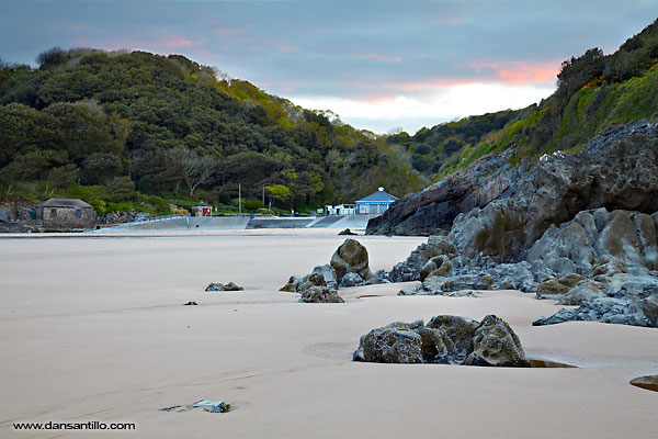 Caswell Bay before sunrise (Canon EOS 5D Mark II)