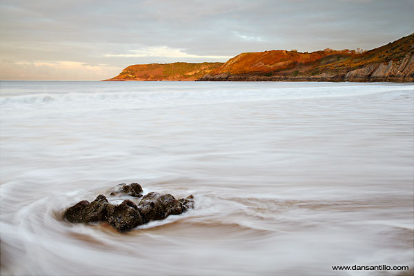 Caswell Bay just after sunrise (Canon EOS 5D Mark II)