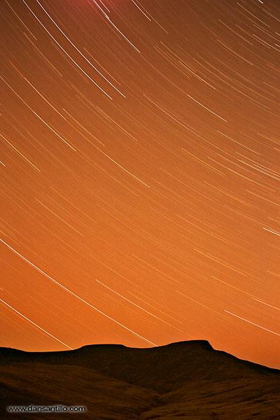 Pen y Fan Star Trails (Canon 5D) 1.5 hour exposure