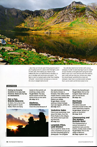 Photography Monthly, August 2009, page 66
