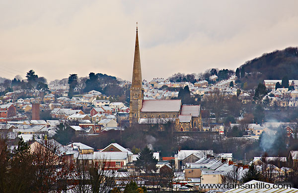 Pontardawe in the Snow (Canon EOS 5D Mk II)