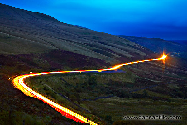 Traffic Trails in the Brecon Beacons (Canon EOS 5D Mark II)