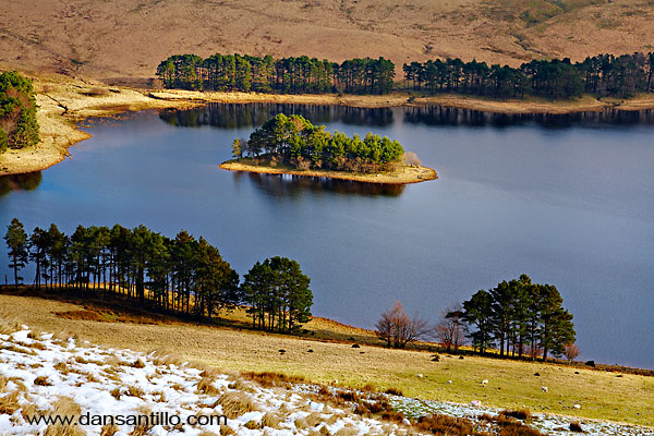 Upper Neuadd Reservoir in the Brecon Beacons