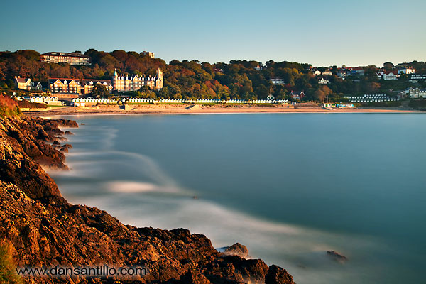 Langland Bay with 10 stop ND filter
