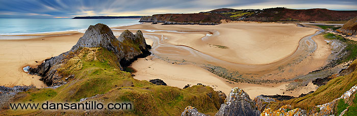 Pobbles Beach and Three Cliffs Bay