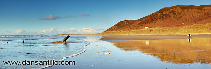 Rhossili Bay and the Helvetia Wreck