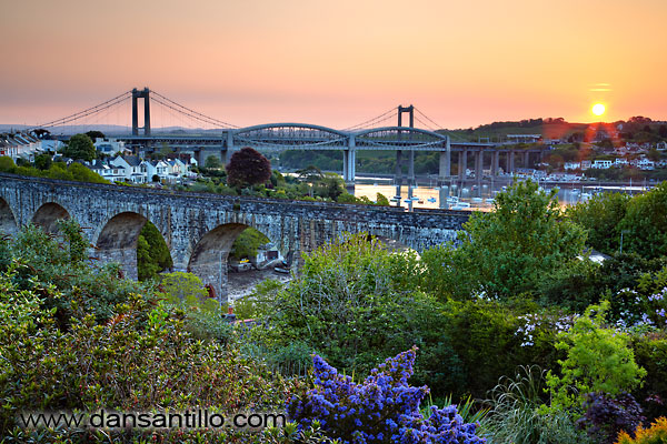 Coombe Viaduct, Tamar Bridge and Royal Albert Bridge (aka Brunel Bridge)