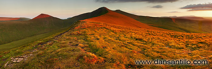 Cribyn, Pen y Fan and Corn Du from Cefn Cwm Llwch, Brecon Beacons