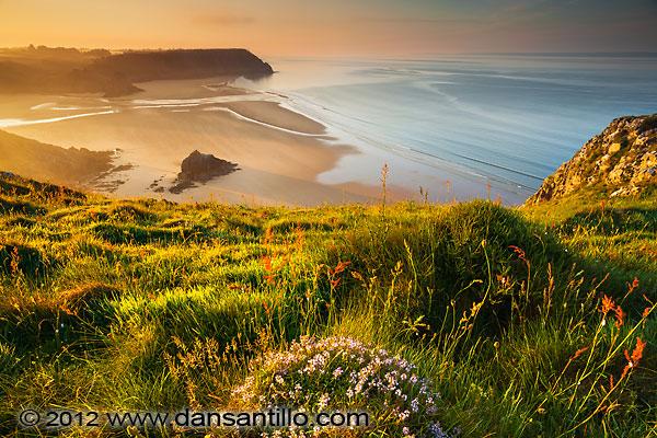 Three Cliffs Bay from Penmaen Burrows