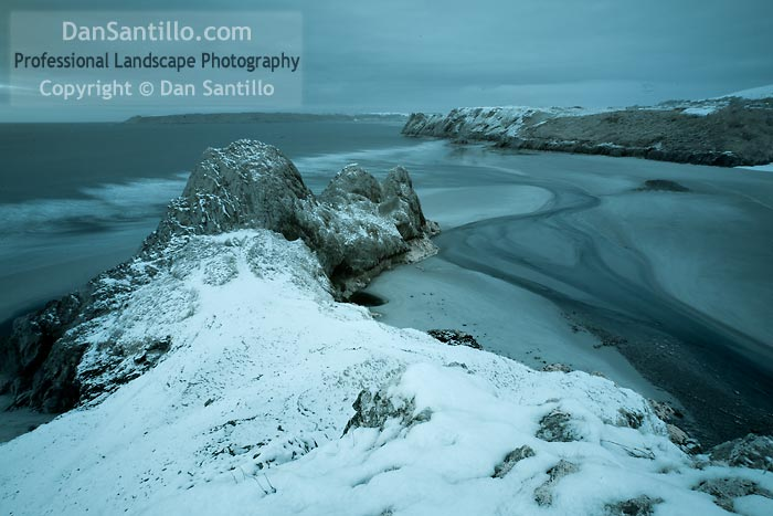 Three Cliffs Bay in Infrared