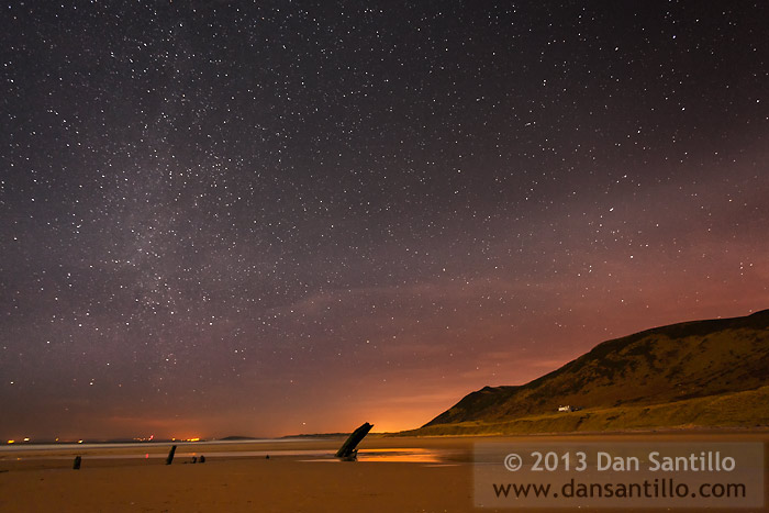 Rhossili Bay, The Helvetia Wreck, The Milky Way and The Plough