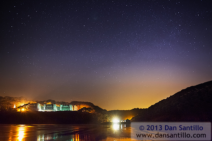 Caswell Bay with Polaris, Cassiopeia and Cepheus