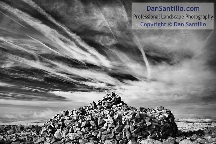 Summit cairn on Moel Gornach, Black Mountain
