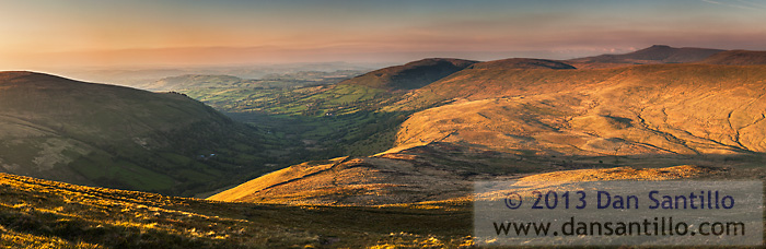 The View from Fan Nedd with Corn Du and Pen y Fan in the distance