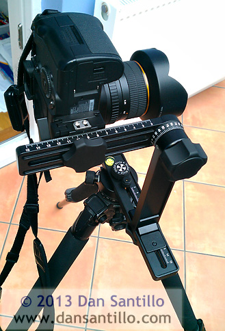 My Nodal Ninja panorama head set up for the Samyang 14mm lens on my Canon 5DMkII