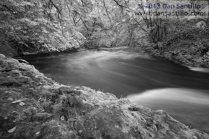 Afon Pyrddin in Infrared, Brecon Beacons National Park