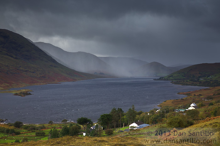 Rain Storm over the Maumturk Mountains and Lough Nafooey