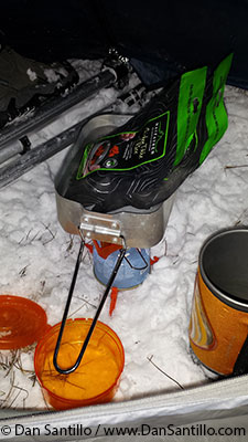 Cooking our tea in -5 degrees C