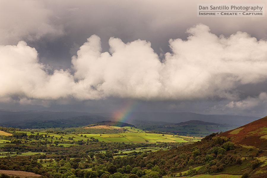 Rainbow whilst walking to Llyn Cwm Llwch