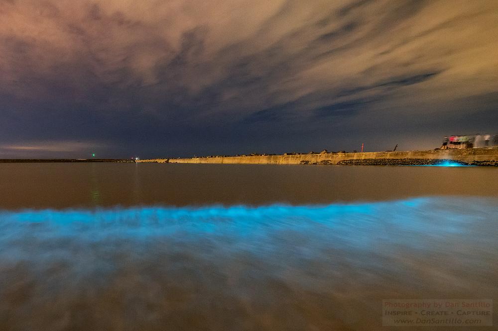 Bioluminescent Plankton at Aberavon, Wales