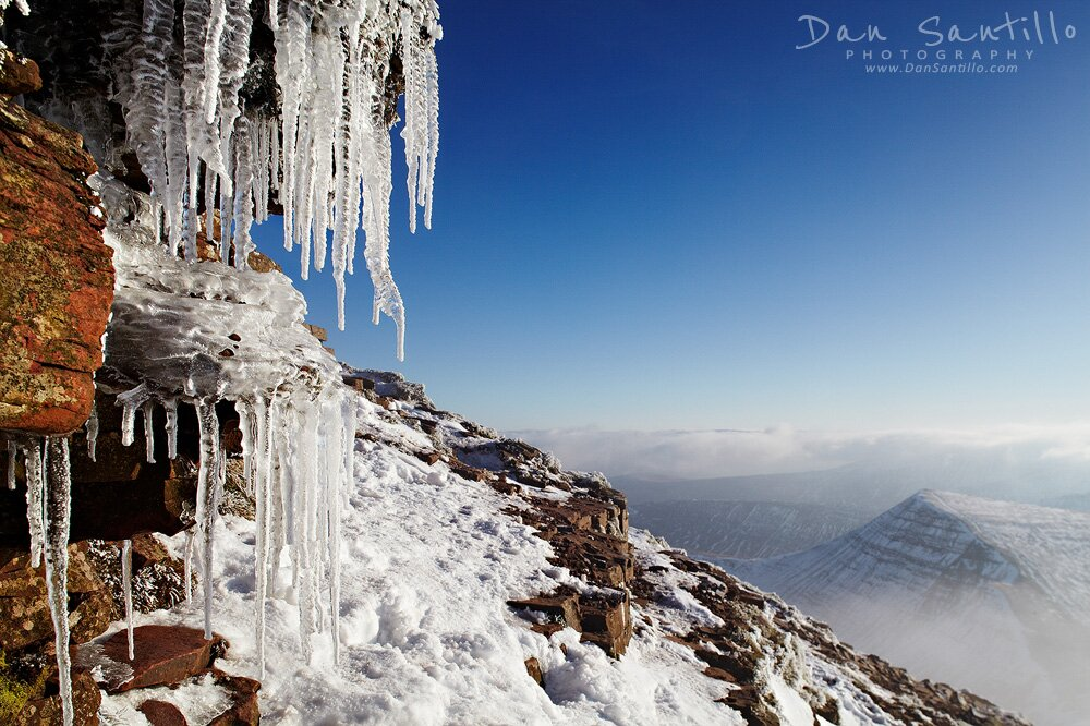 Icicles on Pen y Fan