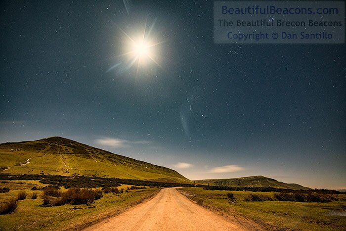 Hay Bluff with the Moon