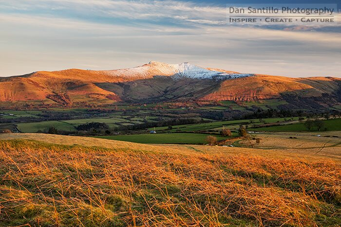 Pen y Fan and Corn Du from Mynydd Illtud