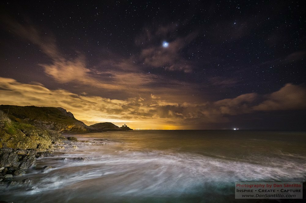 Mumbles Lighthouse with Jupiter