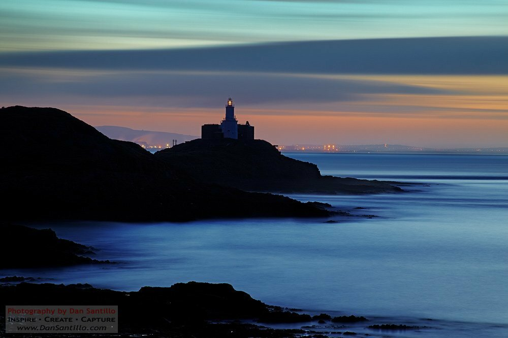 Bracelet Bay and Mumbles Lighthouse