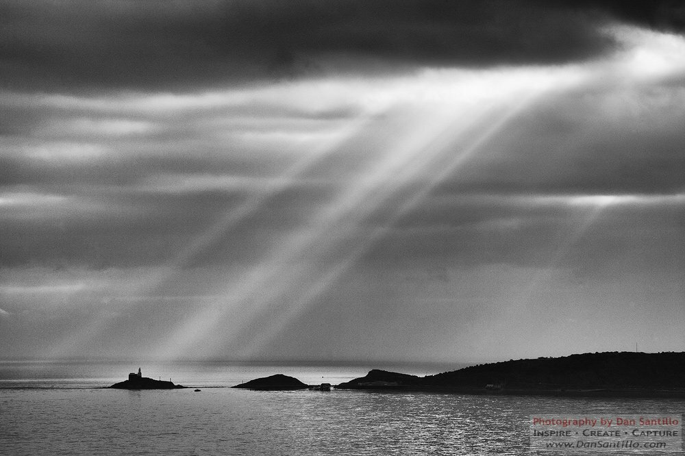 Mumbles Lighthouse from Uplands