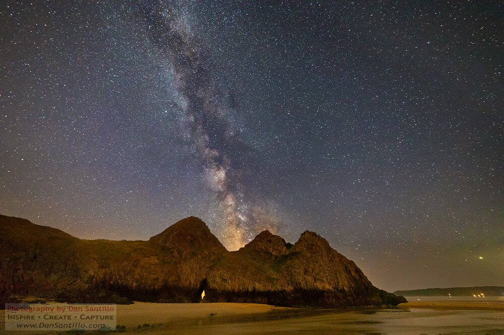 The Milky Way over Three Cliffs Bay