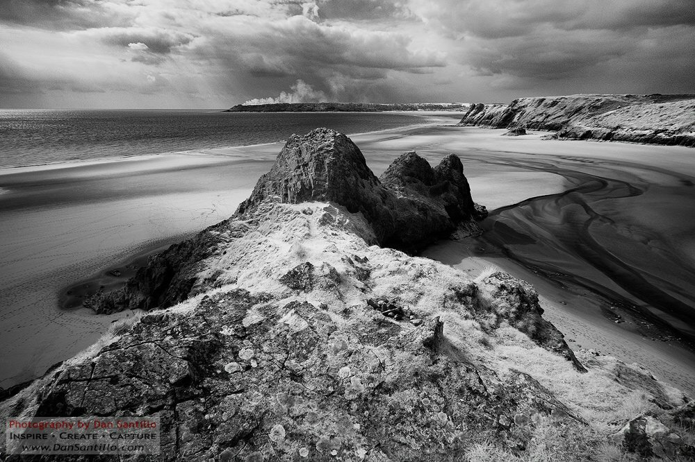 Infrared Three Cliffs Bay