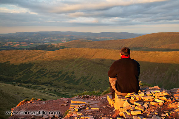 Self portrait on Cribyn