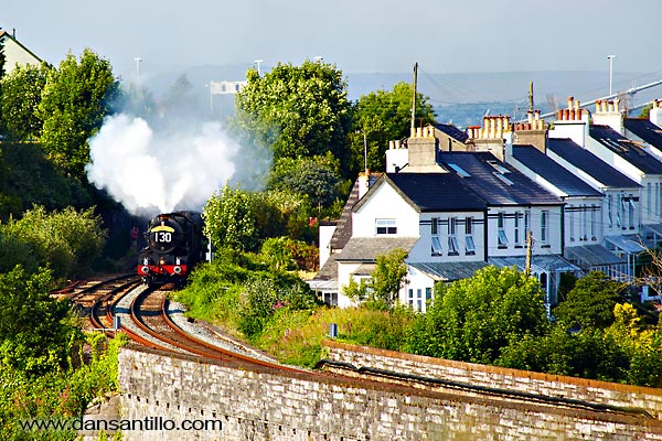 Coming out of Saltash Station