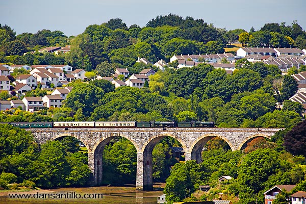 Cornish Riviera Express crossing Coombe Viaduct