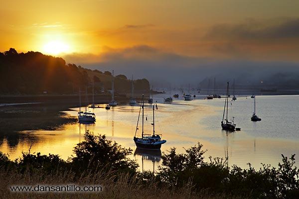 River Lynher sunrise