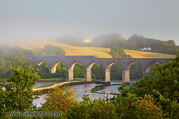Trematon Castle and Forder Viaduct