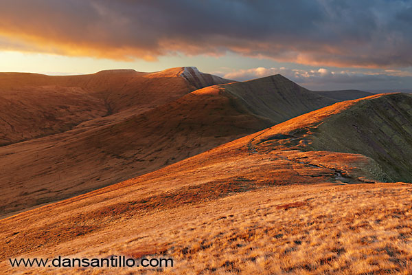 The Pen y Fan Massif (Corn Du, Pen y Fan, Cribyn and Fan y Big)
