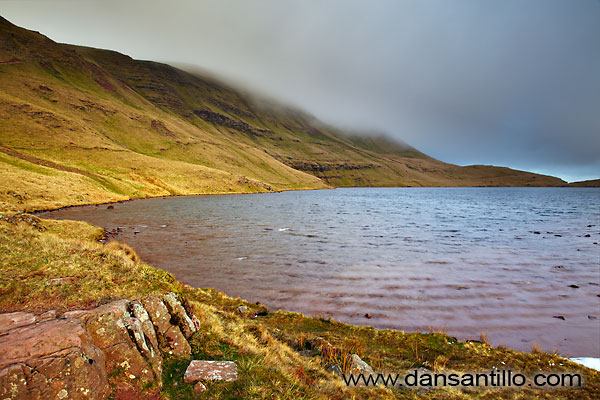 A brief bit of sun at Llyn y Fan Fawr