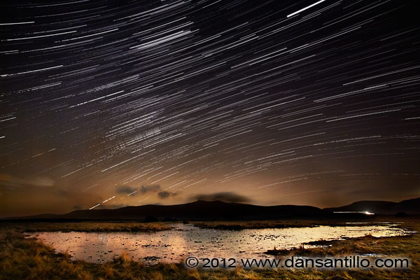 Mynydd Illtud at Night