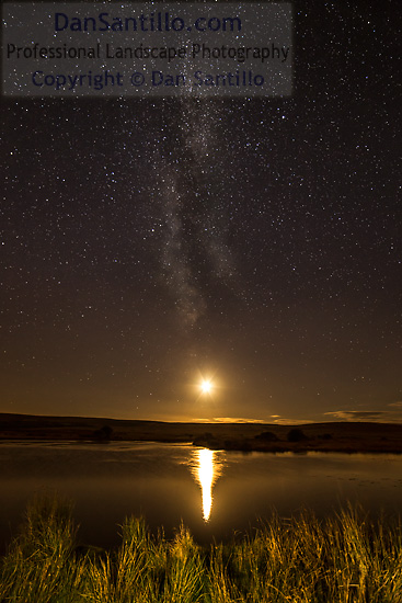 Broad Pool, the Moon and the Milky Way